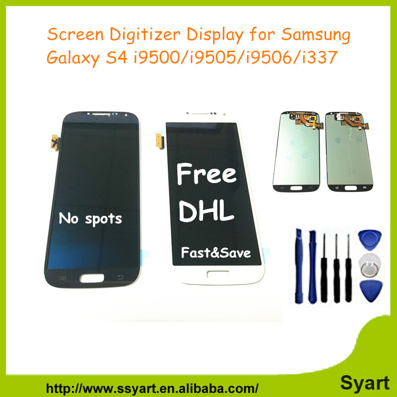 S4 Full lcd Test AAA Gread Quality Screen Display LCD Digitizer Touch Assembly For Samsung Galaxy S4 IV i9500 i337 DHL 10PCS