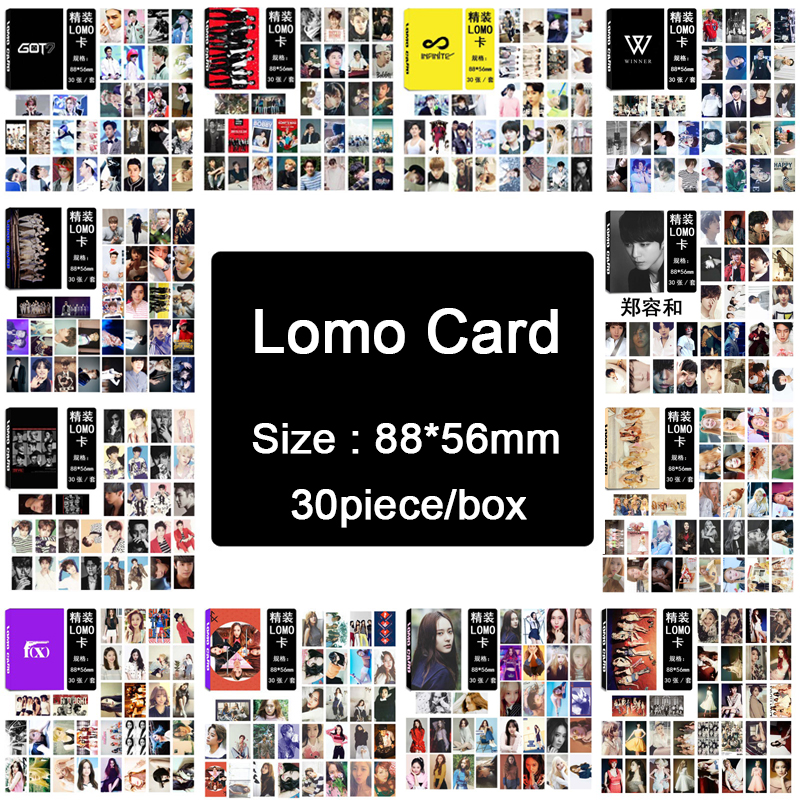 Youpop KPOP BIGBANG/EXO/BTS/BLACKPINK/F(x)/GOT7/IKON/INFINITE/RED VELVET/SJ/ NCT127/SNSD Album LOMO Small Cards Photos Photocard youpop kpop exo universe baekhyun sehun chanyeol lay album 30 postcards 30 small 120 stickers k pop photo cards share post cards