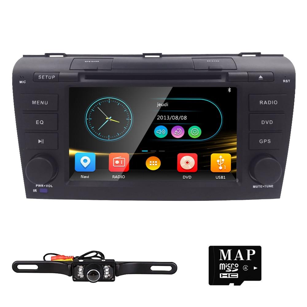 Free shipping 2004 2007 Car DVD for Mazda 3 navigation system multimedia system dvd car for Mazda3 Radio Player GPS antenna