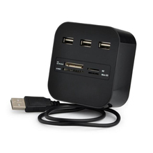 3 High Speed Port USB HUB 2.0 USB Splitter Adapter for Notebook/Tablet Computer PC Peripherals Accessories Black