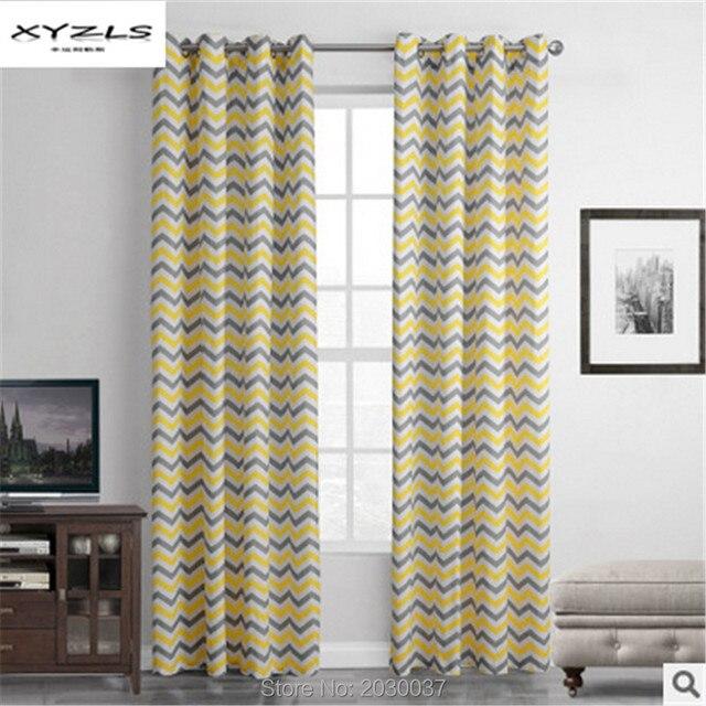 XYZLS moderne jaune solide rideaux pour fenêtre cuisine pure rideau/ombre  poinçonnage Perspective chambre 1 pièce
