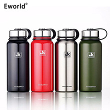 Eworld Stainless Steel Insulated Thermos Bottle Vacuum Flask Large Capacity Thermoses Thermal Coffe Garrafa Termica Sport Termos