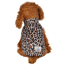 Leopard puppy coat Clothes small pet dog cat Round Neck Shirt Two-Legged Clothes Leopard Print Jackets Winter 2018 fashion(China)