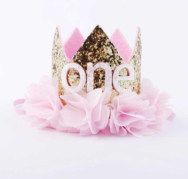 Dziewczyna strój pierwsze urodziny 1st kwiat księżniczka korona 2nd 3rd dziecko złoty biały fioletowy niebieski urodziny kapelusz dla dzieci