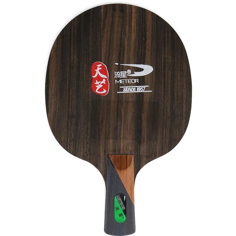 METEOR (Liu Xing) Ebony 5 (TE17041, 3+2 Ebony, Loop / Fast Attack) Table Tennis Blade Racket Ping Pong Bat Paddle