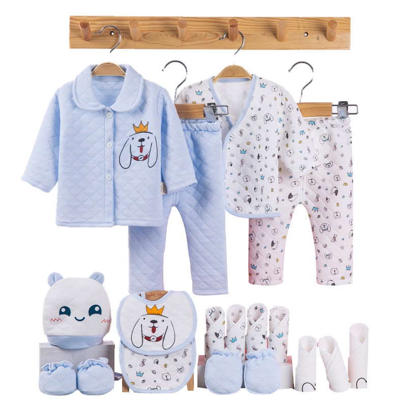 Cartoon Baby Girl Clothes Winter Cotton Toddler Newborn Clothes Infant Clothing New Born Gift Baby Boy Clothes Set 3 Colors