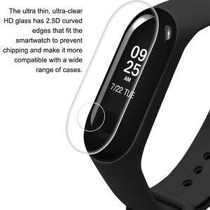 Image 3 - 2 pièces Film de protection décran anti déflagrant LCD TPU couverture complète ForXiao mi Mi bande 3 Bracelet intelligent Bracelet de Gel de silice