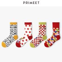 VVQI harajuku cute socks women streetwear funny 2019 New Designer Style Cartoon Clown cotton 4pairs kawaii Colourful korean gift