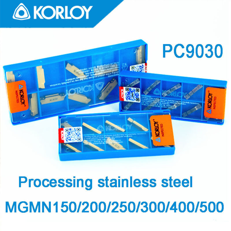 PC9030-MGMN150-MGMN200-MGMN250-MGMN300-MGMN400-MGMN500  10pcs/set KORLOY CNC Carbide Insert  Processing  Stainless Steel