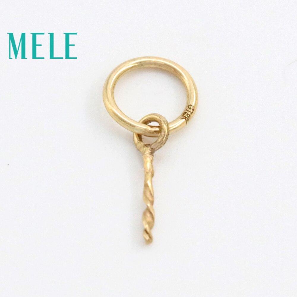 MELE vrai fermoir pendentif en or 18 K, 10mm de long et 0.078g weght pour la fabrication de bijoux, accessoires de bijoux bricolage
