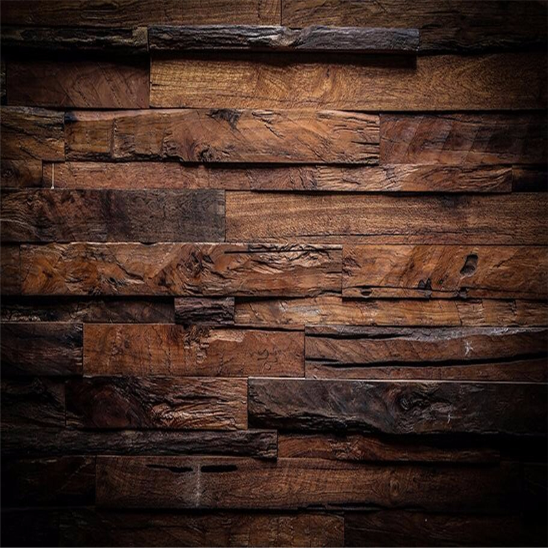 Desktop Wallpaper Wood Grain: Beibehang Modern Wallpaper 3d Mural Retro Nostalgia Wood