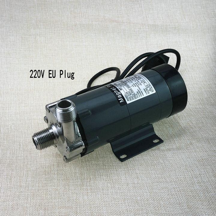 304 inoxydable tête Magnétique Pompe 15R, brassage de la bière Pompe À Entraînement Magnétique HomeBrew pompe 220 v UE Plug,