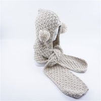 Winter Autumn Baby Kids Boy Girl Warm Hat Scarf Ear Flap Knitted Wool Caps Cute Animal
