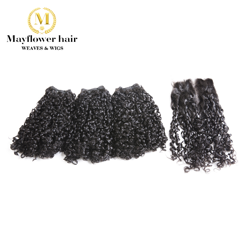 Mayflower Funmi Hair Tiny Curl 2/3/4 Pcs With 4x4