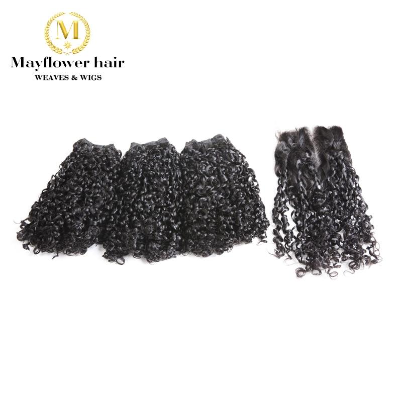 Mayflower Funmi Hair Tiny Curl 2/3/4 Pcs With 4x4