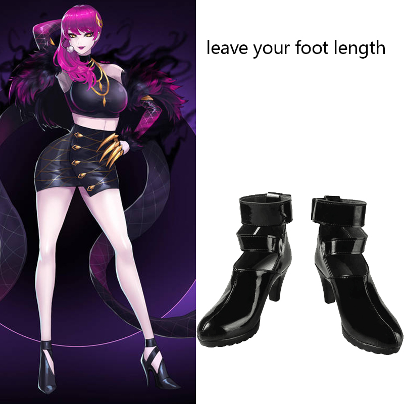 Game LOL Costume KDA Evelynn Cosplay Boots Agony's Embrace Leather Shoes Props Women Halloween Carnival Accessories Custom Made
