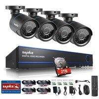 Sannce 16ch hd 1080N dvr 4ピース720 p ir屋外ビデオ監視セキュリティカメラシステム16チャンネルdvrキットで2テラバイトhdd