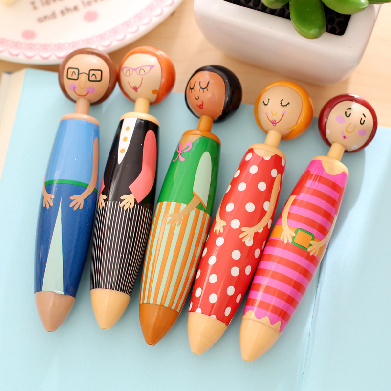 20 pcs/Lot Lovely Doll ballpoint pens for writing Canetas escolar Cute Stationery Office material school supplies papeleria