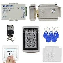 DIYSECUR 125KHz RFID Metal Case Keypad Door Access Control Security System Kit + Electric lock + Remote Control 7612