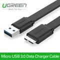 Ugreen alta calidad micro usb 3.0 cable de teléfono móvil de carga rápida cable usb 3.0 micro cable para samsung note 3 s5 hd