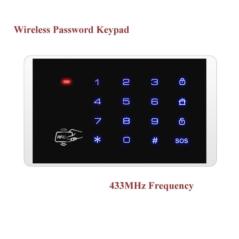 K16 RFID Touch Keypad Wireless Password Keypad For Our Wireless PSTN GSM Burglar Alarm Systems k16 rfid touch keypad for kerui wireless pstn gsm alarm systems burglar access control system wireless password keypad