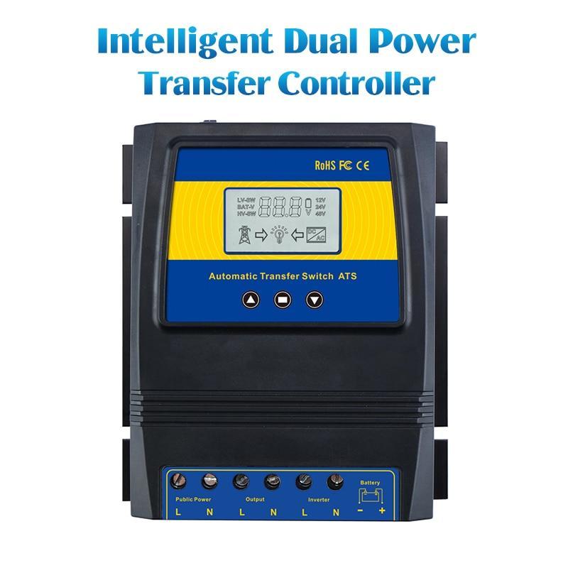Automatique ATS Double Pouvoir Commutateur De Transfert de Charge Solaire Contrôleur pour le vent Solaire Système DC 12 v 24 v 48 v AC 110 v 220 v on/off grille