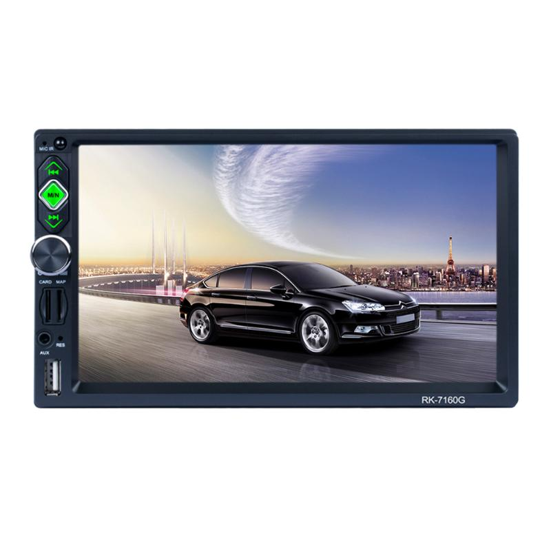 7inch High-efinition Car Radio Multimedia Player with Rear View Camera GPS Navigation MP3 MP5 Audio Stereo Bluetooth USB AUX Map car mp5 player with rearview camera gps navigation 7 inch touch screen bluetooth audio stereo fm function remote control