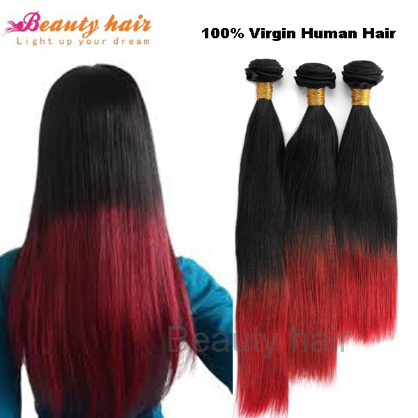 2014 Hot Remy Ombre Hair Extensions Virgin Brazilian Hair Straight