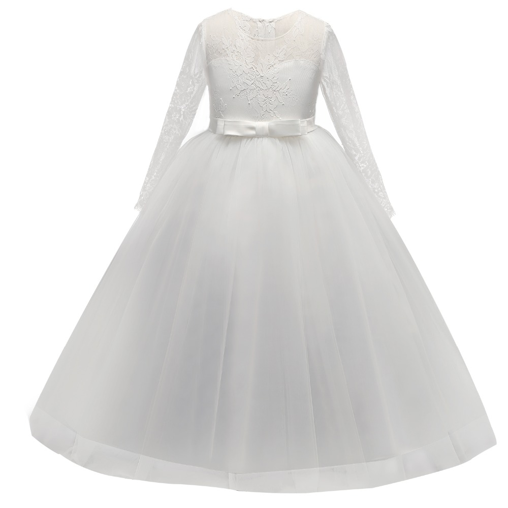6163a3115 Children's Long Dresses Girl Lace Clothes Teenage Girls Prom Evening Party  School Graduation Kids Tutu First Communion Gown 14T-in Dresses from Mother  ...