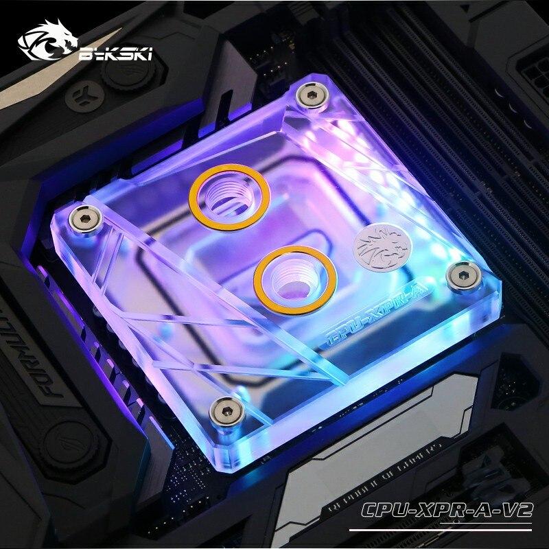 CPU Water Cooling Block+RGB Remote Control for Intel LGA1150//1151//1155//1156//2011