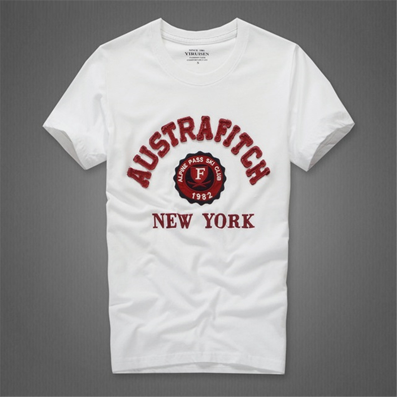 Camiseta t-shirt katoenen O-hals brief man merk - Herenkleding - Foto 5