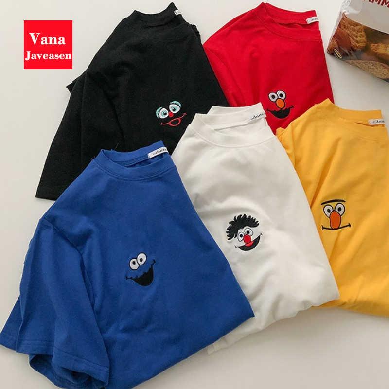 Sommer Koreanische Beiläufige Lose Lila T-shirt Frauen Brief T-shirts Druck Lustige T-shirt Für Weibliche Top Kleidung Kurzarm Tees