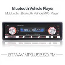 JSD 20158 12V Car Radio MP3 Player In-dash FM Receiver Bluetooth Autoradio Car Stereo Audio with USB Port & Aux Input все цены