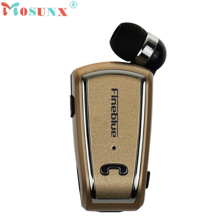 Adroit 1PC Portable Clip Retractable Bluetooth 4.0 Wireless Earphone Fashion Headset Smartphone DEC14