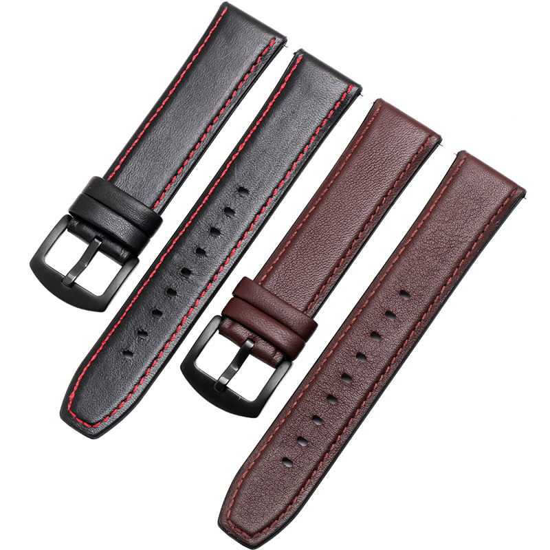 Image 3 - Watchband 22mm Silicone + Leather 2in 1 Strap Fashion Mens Replacement Wristband For Huawei watch Pro/GT Quick releaseWatchbands   -