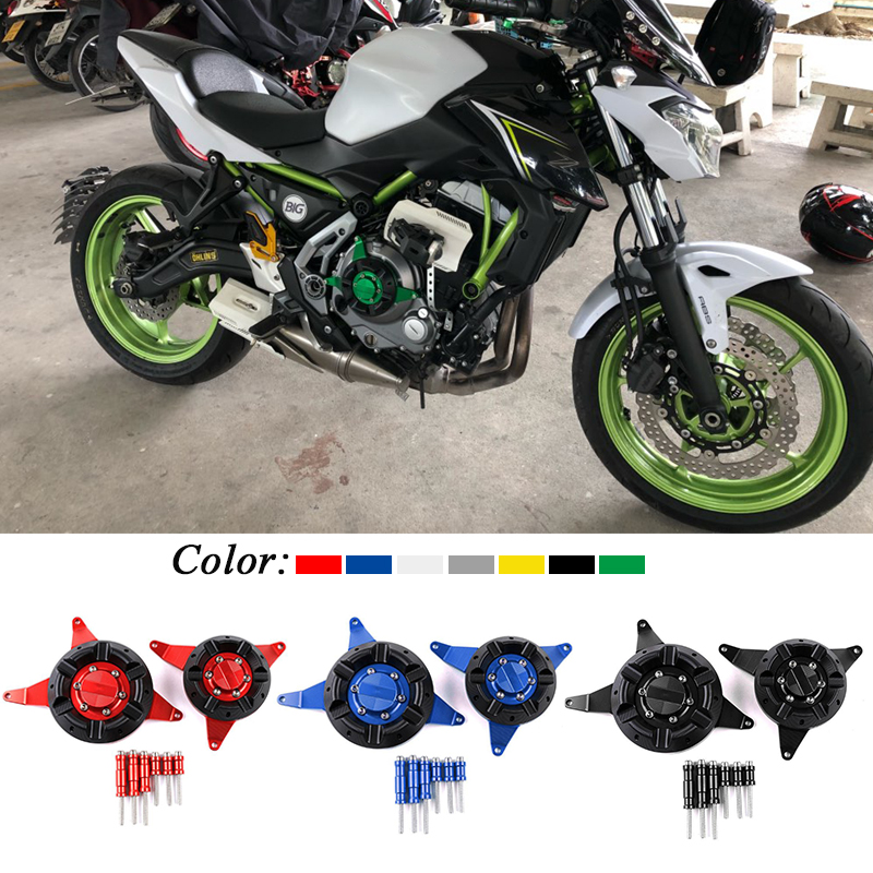 US $65 6 20% OFF|For Kawasaki Z650 Ninja 650 2017 Motorcycle Accessories  CNC Aluminum Engine Stator Protective Cover Left Right Set Decoration-in