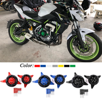 For Kawasaki Z650 Ninja 650 2017 Motorcycle Accessories CNC Aluminum Engine Stator Protective Cover Left Right Set Decoration