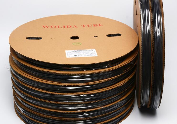 One Reel of Heat Shrink Tube Shrinkable Tubing 10/12/14/16/20mm Black Color