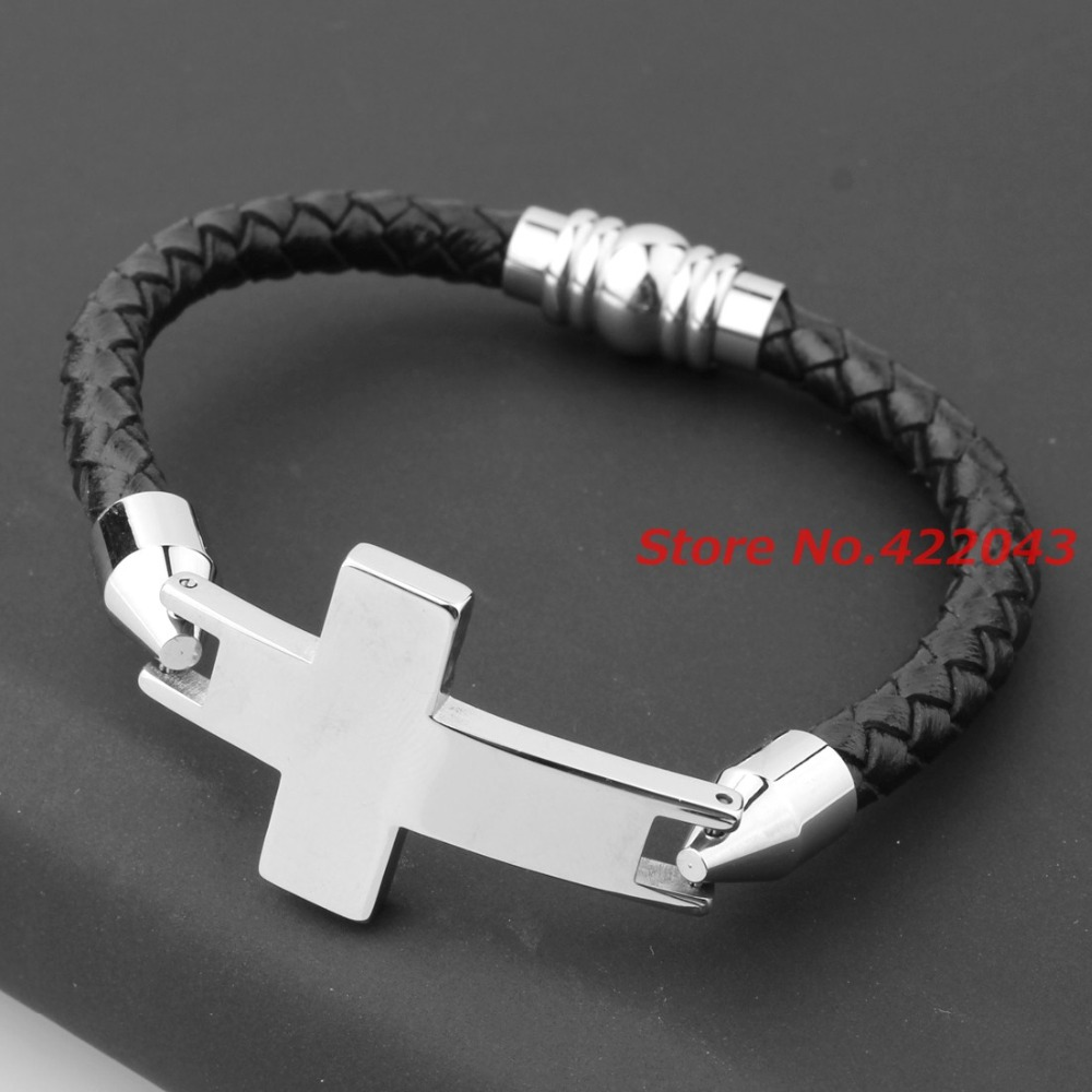 charm fashion men bangle gold gifts stainless man cross bracelets jesus plated jewelry products bangles personalized steel
