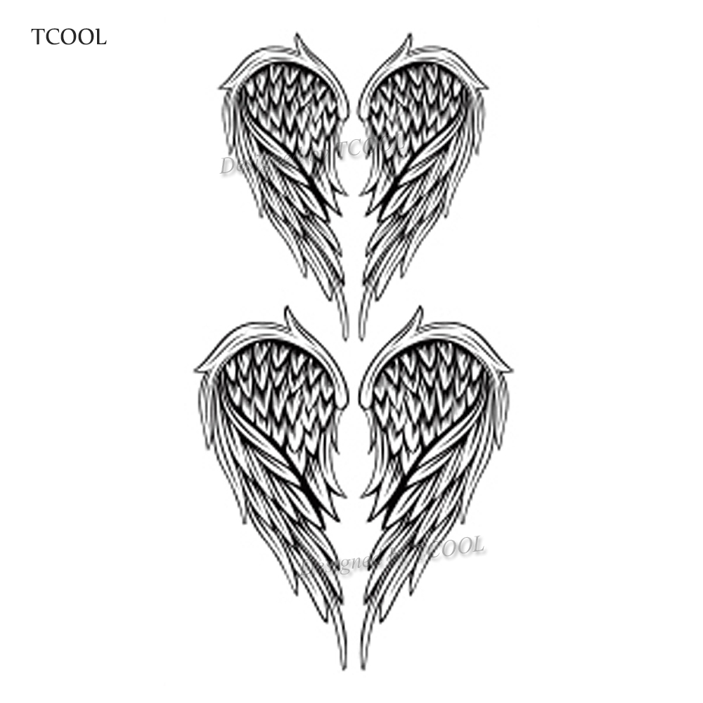 HXMAN Wing Temporary Tattoos Sticker Waterproof Women Men Fashion Fake Arm Body Art 10.5X6cm Kids Hand Face Tatoo Paper B-017