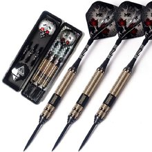 New CUESOUL Professional Steel Tip Darts 23/25/27g 162mm Brass Barrels With Black Dart Shaft And Dart Flights(China)