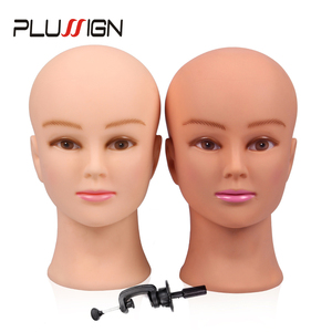 Image 1 - Rubber Female Mannequin Head and Clamp For Wigs Professional Cosmetology Bald Mannequin Head For Making Wigs With Stand 19 21""