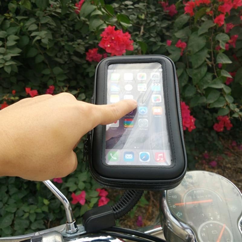 Universal Sepeda Motor Pemegang Ponsel Dukungan Moto Berdiri Kasus - Aksesori dan suku cadang ponsel - Foto 5