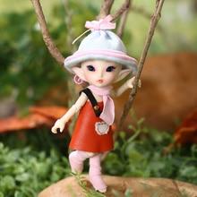 FreeShipping הפיות FL Realpuki Roro בובת BJD 1/13 ורוד חיוך גמדי צעצועי ילדה זעיר שרף מפרקים בובה