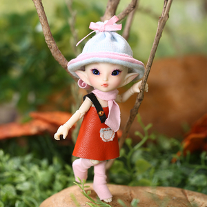 Image 1 - FreeShipping Fairyland FL Realpuki Roro Doll BJD 1/13 Pink Smile Elves Toys for Girl Tiny Resin Jointed Doll