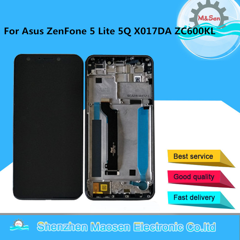 M&Sen For 6.0 Asus ZenFone 5 Lite 5Q ZC600KL X017DA S630 SDM630 LCD Screen Display+Touch Panel Digitizer With FrameM&Sen For 6.0 Asus ZenFone 5 Lite 5Q ZC600KL X017DA S630 SDM630 LCD Screen Display+Touch Panel Digitizer With Frame