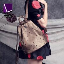 MANZILAN Уникальный дизайн Бренда РЕАЛЬНОГО Натуральная кожа женщины рюкзак Мода Заклепки Анти-вор рюкзаки Вскользь женщин дорожные сумки