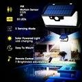 55 LED 900lm Солнечный свет дистанционное управление радар смарт 3 боковое освещение датчик движения лампы torc Уличный настенный светильник ярд л...