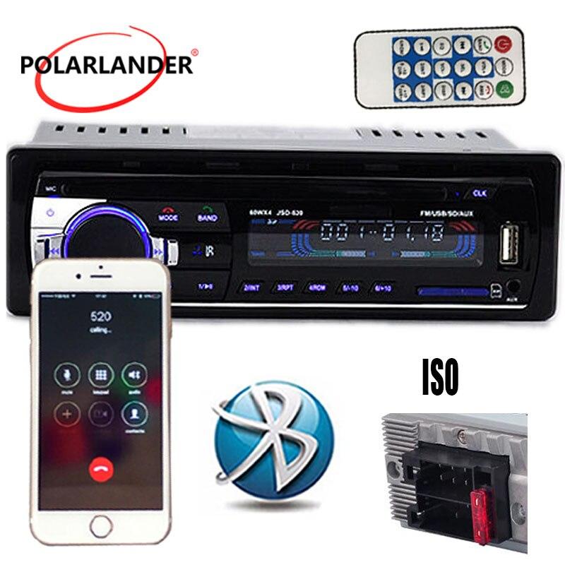 FM/SD/USB/AUX Car Stereo Radio Multiple EQ  MP3 Player JSD 520 1 DIN 12V  Head Unit Bluetooth MP3/WMA/WAV player Car Radios Automobiles & Motorcycles - title=