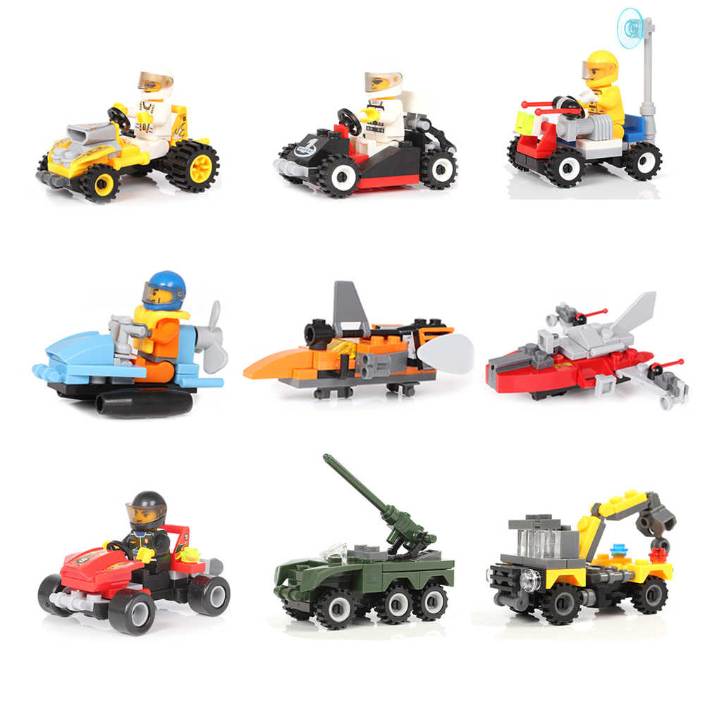 Vidiem Army Racing Car Tank Robot Series Educational Building Blocks Toys For Kids 6Years Compatible With Legoing Small Bricks